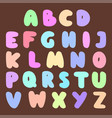 font abc type design stylized letter symbol vector image vector image