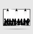 girl on billboard silhouette vector image vector image
