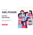 girl power poster feminism subject vector image