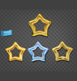 gold and blue stars isolated on gray background vector image