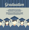 Group of Students In Graduation Gown And vector image