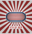 happy 4th of july text on greeting background vector image vector image