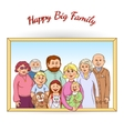 Happy family framed portrait vector image