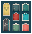 Holiday christmas tags C preview vector image