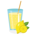 Lemon juice lemonade in a glass Fresh isolated vector image vector image