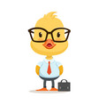 little cartoon duckling character wearing as vector image vector image