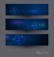 molecules with circles lines geometric polygon vector image vector image