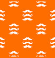 moustaches pattern seamless vector image vector image