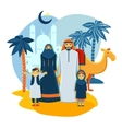 Muslim Family Concept vector image vector image