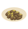 mussels icon isometric 3d style vector image