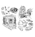 national greek cuisine vector image vector image