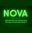 neon light 3d alphabet extra glowing modern font vector image vector image