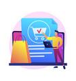 online ordering concept metaphor vector image vector image