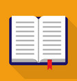 open book with shadow vector image vector image