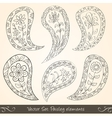 Paisley design elements vector image