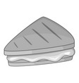 piece of cake icon monochrome vector image