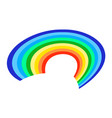 rainbow icon on a white background flat vector image vector image