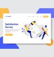 satisfaction survey concept vector image vector image