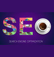 seo search engine optimization concept with flat vector image
