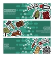 Set of Horizontal Banners about lumberjack vector image vector image
