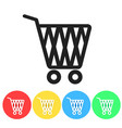set of online shopping icon button design vector image vector image