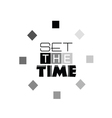 set the time sign art vector image vector image