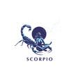sign zodiac scorpio vector image vector image