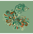 stylized fish with detailed tail vector image vector image
