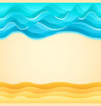 summer beach sand sea waves holiday tourism vector image vector image