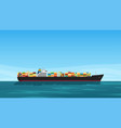 tanker side view full colorful containers vector image vector image