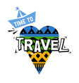 time to travel icon isolated on white vector image