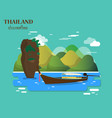 tourist attractions and landmarks in thailand vector image vector image