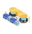 tram stop isometric 3d icon vector image vector image