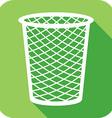 Trash Bin Icon vector image vector image