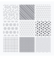 Waves triangles and squares seamless textures vector image vector image
