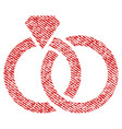 wedding rings fabric textured icon vector image
