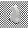 white knight chess piece isometric vector image vector image