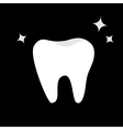 White Tooth icon Healthy tooth shining star Oral vector image vector image