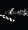 your guide to the home insurance quote text vector image vector image