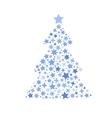 symbol silhouette of christmas tree stars vector image