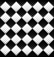 abstract black and white square pattern vector image vector image