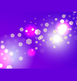 abstract light background bokeh effect hexagons vector image vector image