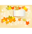 Autumn holiday postcard vector image vector image