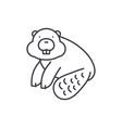 beaver line icon concept beaver linear vector image vector image