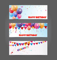 Birthday and celebration banner with colorful ball