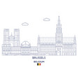 brussels linear city skyline vector image vector image