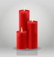 candle christmas house decoration red vector image vector image