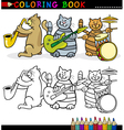Cats Band for Coloring Book or Page vector image vector image