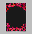Chaotic heart page template design - valentines