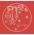 Christmas Frame Card vector image vector image